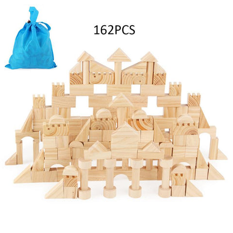 162 Children's Wooden Shape Cognitive Building - Products To Build a Better Brain