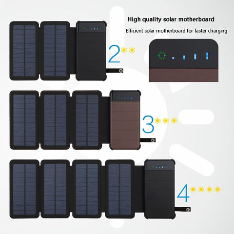 20000mAh  Waterproof solar power bank - Products To Build a Better Brain