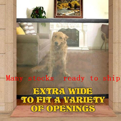 2019 Magic-Gate Dog Pet Fences Portable Folding Safe Guard Indoor and Outdoor Protection Safety Magic Gate For Dogs Cat Pet - Products To Build a Better Brain