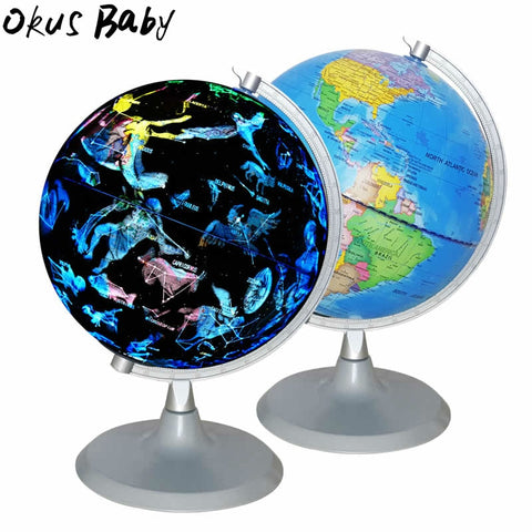 2019 Newest 2-in-1 USB 20cm LED World Globe Constellation Lighting Map Earth Globe, Kids Geography Educational Globe - Products To Build a Better Brain
