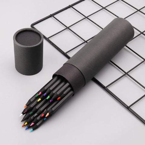 24 Colors Wooden Drawing Charcoal Pencils Painting Crayon Sketching Pen Non-toxic Art Supplies - Products To Build a Better Brain