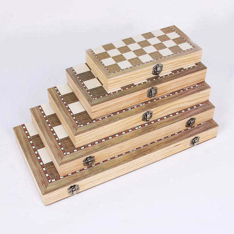 3 in 1 Foldable Wooden Chess Board Set Travel Games Chess Backgammon Checkers Toy Chessmen Entertainment Game Board Toys Gift - Products To Build a Better Brain