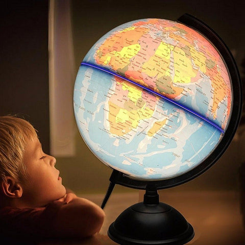 32cm Electric with Light World Globe Earth Map Teach Education Geography Toy Terrestrial Tellurion Globe home Office Desk Decor - Products To Build a Better Brain