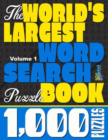 The World's Largest Word Search Puzzle Book: 1, 000 Puzzles (Vol. 1) - Products To Build a Better Brain