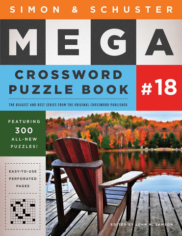 Simon & Schuster Mega Crossword Puzzle Book #18 - Products To Build a Better Brain