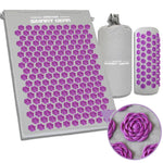 Acupressure Massage Mat Pillow Set Yoga Mat for Relieves Stress Back Neck Sciatic Pain Relaxation Tension Release with Free Bag - Products To Build a Better Brain