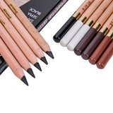 Bianyo 12 Pcs/Box Artist Soft Pastel Pencils Crayon Charcoal Pencils Artiste Wooden Non toxic Pencil for Sketching  Drawing - Products To Build a Better Brain