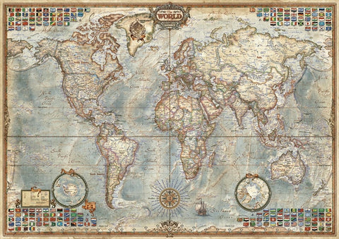 1500 Pieces AncientWorld Map Jigsaw Puzzle - Products To Build a Better Brain