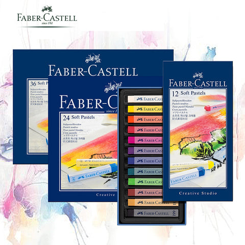 Faber-Castell Pastel Stick 12/24/36/48/72 Colors Dyed Chalk Wax Colors Blue Box Oil Pastel Crayon Soft Pastel Blando For Art - Products To Build a Better Brain
