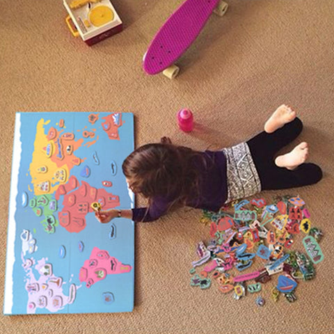 Kid's Magnetic World Map Montessori Materials - Products To Build a Better Brain