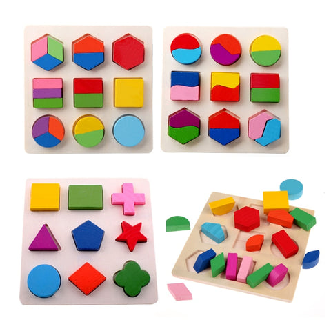 Kids 3D Puzzle Wooden Toys Colorful - Products To Build a Better Brain