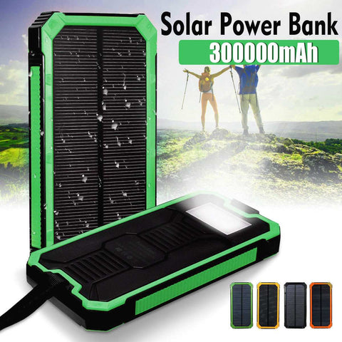 LEORY 300000mAh Solar Charger Power Bank - Products To Build a Better Brain