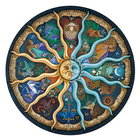 Landscape puzzle 500 Pieces Zodiac Horoscope Puzzle Toys  Collection DIY Constellation Jigsaw Paper Puzzles home decoration - Products To Build a Better Brain