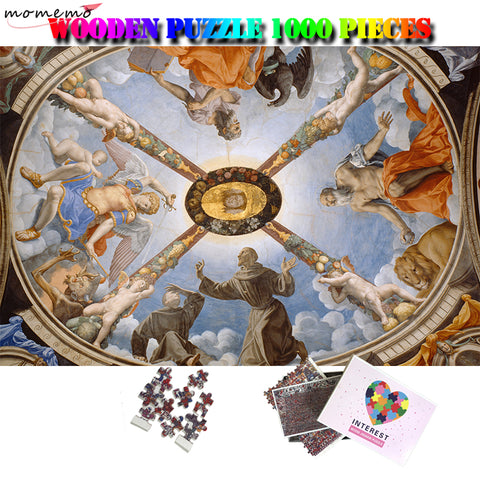 MOMEMO The Chapel of Eleonora of Toledo Jigsaw Puzzle 1000 Pcs Adults Wooden Puzzle 1000 Pieces Relax Brain Puzzle Games Toys - Products To Build a Better Brain