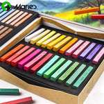Marie's Painting Crayons Soft Dry Pastel 12/24/36/48 Colors/Set Art Drawing Set Chalk Color Crayon Brush Stationery for Students - Products To Build a Better Brain