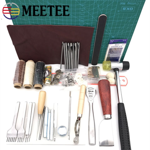 Meetee DIY Leather Tools Handmade Leather Tool Set Hand-stitched Diamond Craft Set 01 Entry-level Hand Sewing Set BD124 - Products To Build a Better Brain