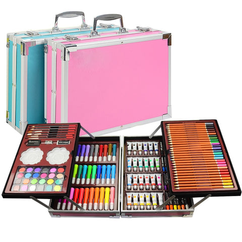 Portable Double aluminum box painting set watercolor With Water Brush Pen Color lead Watercolor Pigment For Drawing Art Supplies - Products To Build a Better Brain