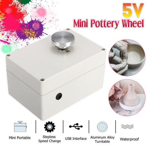Pottery Wheel Electric 5V Mini USB Ceramic Machine For Clay Art Work Crafts DIY Manual Control Speed Stepless Carried Smooth - Products To Build a Better Brain