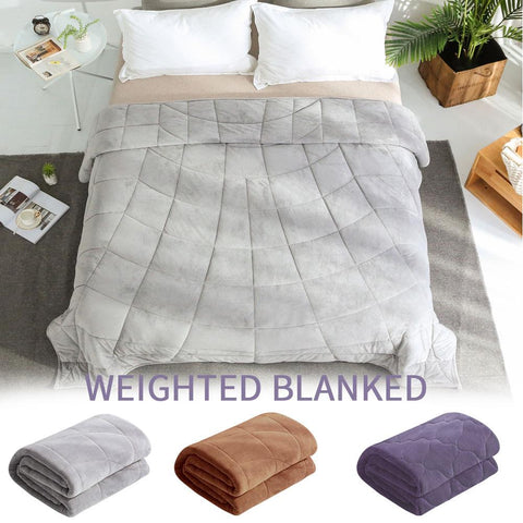 Weighted Blanket Cotton Soft Comfortable Glass Beads For Children Adult Anxiety Autism Overpressure Group 7/15lb - Products To Build a Better Brain