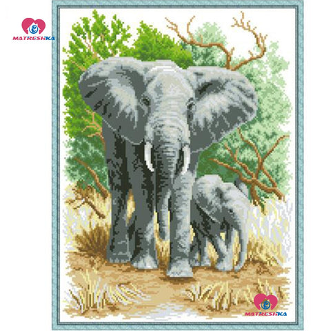 Embroidery Elephant beadwork home decor crafts needlework kits accessories Gifts pearl embroidery Partial embroidery - Products To Build a Better Brain
