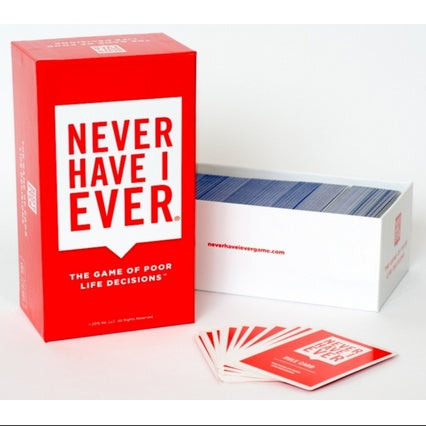 Never Have I Ever: The Game of Poor Life Decisions Card Game - Products To Build a Better Brain