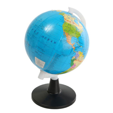 Montessori 8.5cm Plastic Mini World GlobeWith Swivel Stand - Products To Build a Better Brain