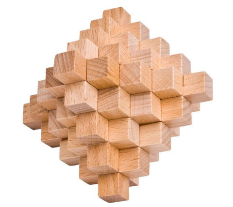 High Difficulty Level IQ Wooden Burr Interlocking Puzzle Brain Teaser Game for Adults - Products To Build a Better Brain