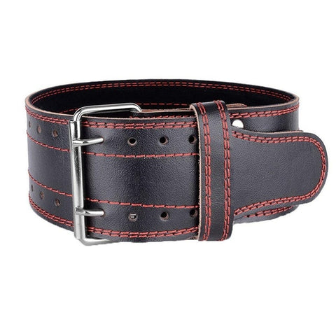 Leather Weight lifting Belt Waist Back Support Squat Power - Products To Build a Better Brain