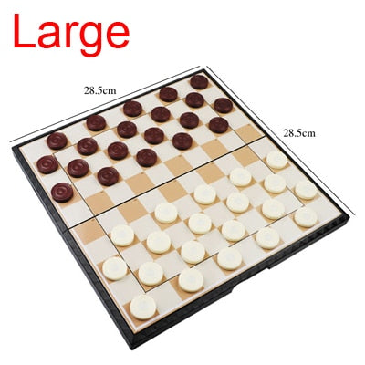 International Checkers Chess Set w/ Magnetic Board - Products To Build a Better Brain