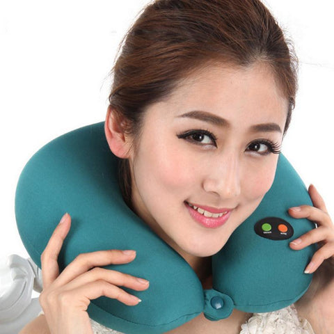 U Shaped Pillow Memory Foam Ergonomic Head Massage Neck Pillow - Products To Build a Better Brain