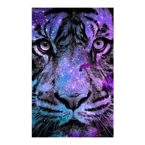 5D Diamond Painting Purple Tiger Cross - Products To Build a Better Brain