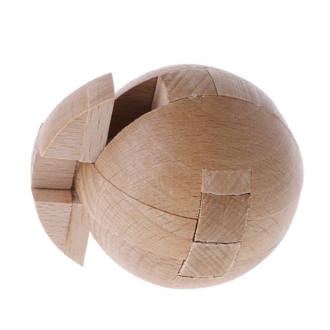 Wooden Puzzle Magic Ball Intelligence Game Brain Teasers Toy Adults Kids Toy - Products To Build a Better Brain