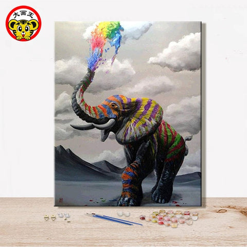 Elephant Realism Handmade Amusing Living room decorative hanging pictures - Products To Build a Better Brain