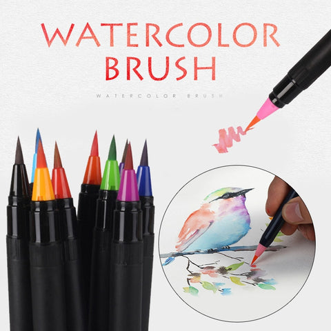 20 Colors Premium Watercolor Brush Pen - Products To Build a Better Brain