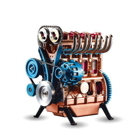 All-Metal Car Mini Assemble Inline Four-Cylinder Engine Kits - Products To Build a Better Brain