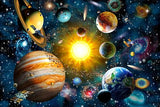 Starry sky solar system wooden puzzles 300 pieces