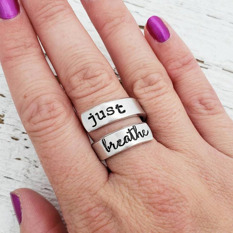 Just Breathe Ring Inhale Exhale Anti-Anxiety - Products To Build a Better Brain