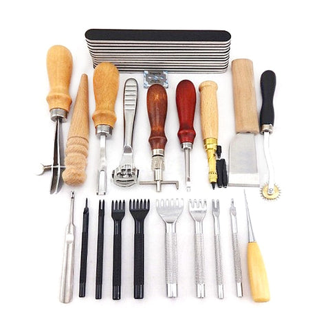 20 PCS Leathercraft Hand Made Sewing Tool Set - Products To Build a Better Brain