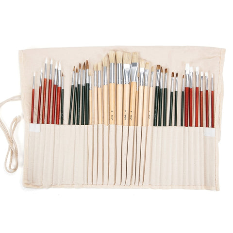 24/36 Pcs Different Shaped Paint Brush Set - Products To Build a Better Brain