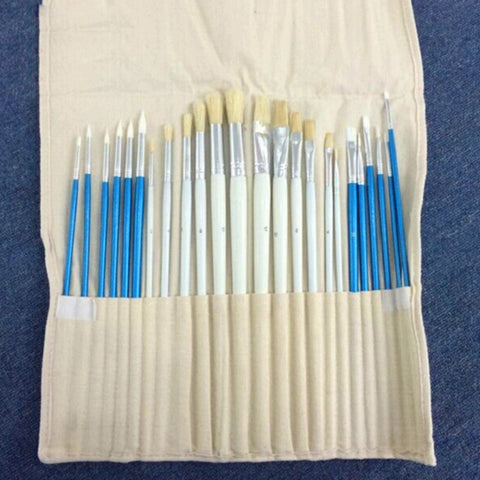 24/36 Pcs Different Shaped Paint Brush - Products To Build a Better Brain