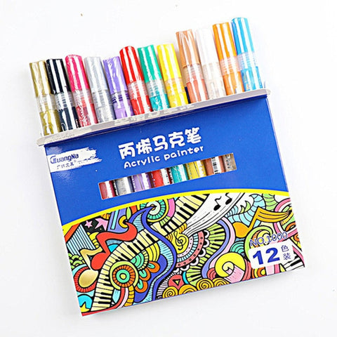 Acrylic Permanent Paint Marker pen for Ceramic Glass Wood Fabric Painting - Products To Build a Better Brain