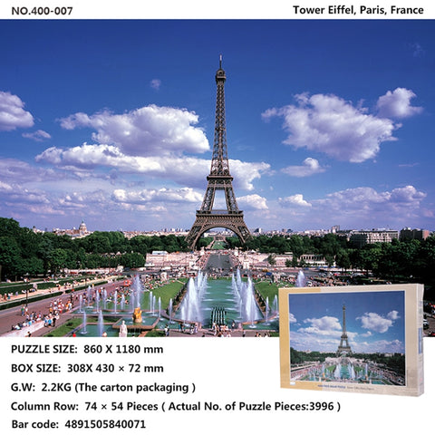 World famous building puzzle 4000 pieces puzzle - 6 Versions!