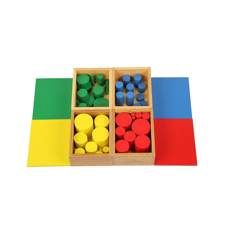 Montessori Material Sensory Sense Visual Training 40 Cylinders - Products To Build a Better Brain