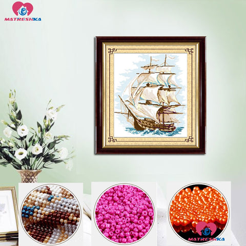 Beaded Sailing Embroidery Beadwork - Products To Build a Better Brain