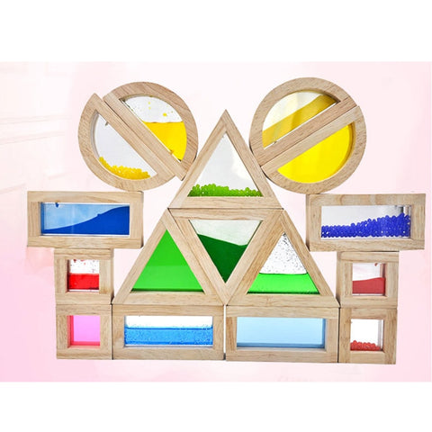 Montessori 16PCS Baby Creative Rainbow Tower - Products To Build a Better Brain