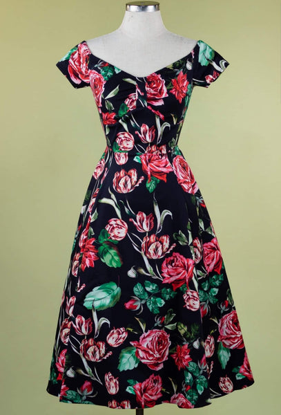 Lady Vintage Josie Dress - English Rose