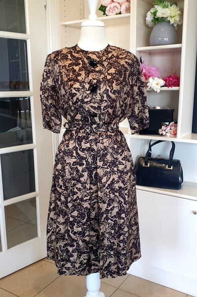 True Vintage 1950s Butterfly Dress