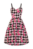 Hell Bunny Harlequin 50's Dress