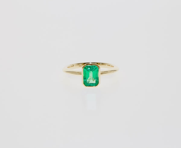 Tamahra Prowse bespoke jewellery commission emerald ring