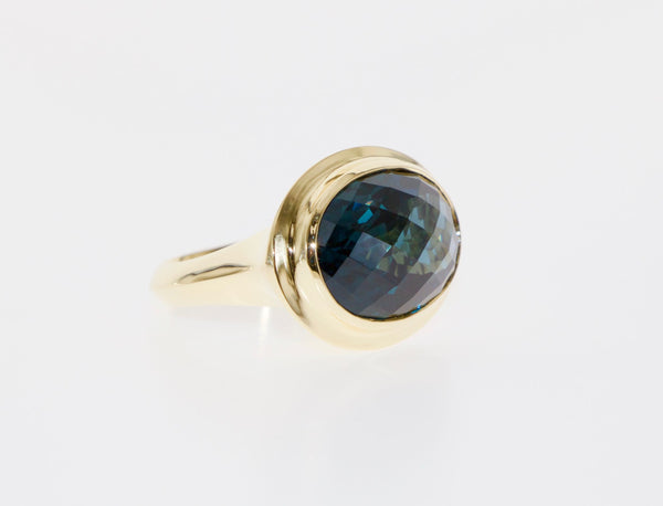 Tamahra Prowse London Blue Topaz and 18ct gold ring.